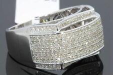 10K WHITE GOLD 1.41 CARAT MENS REAL DIAMOND ENGAGEMENT WEDDING PINKY RING BAND