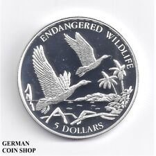 Bahamas 1995 5 Dollars $ Silber PP - proof silver Black-billed Whistling Duck