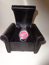 "Detroit Red Wings ""Coach Series"" Stainless Steel Watch - Water Resistant"