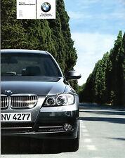 BMW 3-Series Saloon 2005 UK Market Sales Brochure 320i 325i 330i 320d ES SE