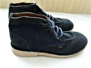 Kickers Men's Suede/Denim Boots Ex Display Size UK 8 EU 42