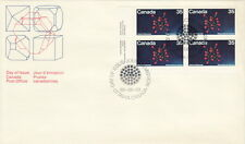 CANADA #865 35¢ URANIUM LL PLATE BLOCK FIRST DAY COVER