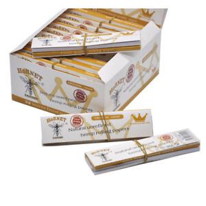 HORNET 24 X King Size White Unrefined Rolling Papers with Paper Filter Tips