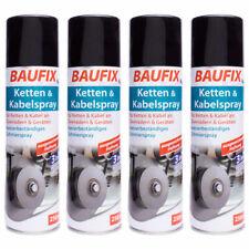 4 x Baufix Ketten & Kabelspray - für Ketten & Kabel and Zweirädern - insg. 1L