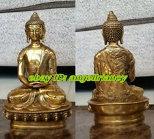 antique excellent Tibetan Buddhis Amitabha bronze buddha statue 20cm