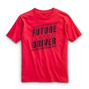 future driver red Cummins short sleeve t shirt dodge diesel child  youth x large