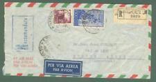 Storia postale. REPUBBLICA ITALIANA. Raccomandata aerea del 23 Gennaio 1950...
