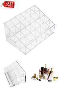 Acrylic Lip Gloss Brush Holder Makeup Organizer Storage For Cosmetics