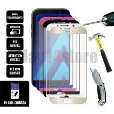 Protector pantalla cristal templado completo Samsung A5 2017 varios colores