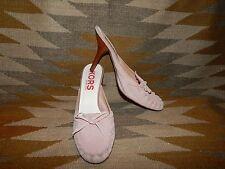 Michael Kors Size 7.5M Pink Suede Slip On Kitten Heel Shoes