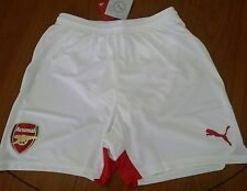 NEW Arsenal  shorts white colour size 28'' /11-12 years