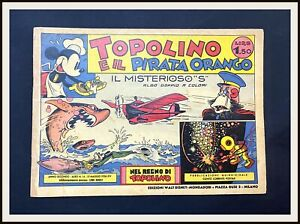 ⭐ T. E IL PIRATA ORANGO - Regno di Topolino Disney # 16 -1936- DISNEYANA.IT ⭐