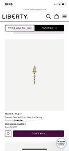 Maria Tash Diamond Delia & Chain Wrap Stud Earring