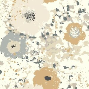 Spontaneity Wallpaper CE4011 contemporary floral metallic washable unpasted