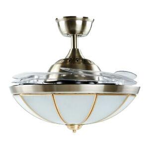 "42"" Royal Style LED Ceiling Fan Light Chandelier 3 Color Change Lamp W/ Remote"