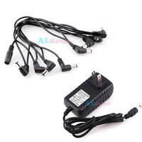 Universal Guitar Effect Pedal Power Supply Adapter 9V & 8 way Daisy Chain Cable