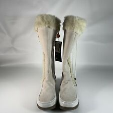 Sporto SideWinder Winter White Thermolite Waterproof Tall Boots Size 10