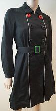 SONIA de SONIA RYKIEL en coton noir à col Double Breasted Mac Trench-Coat 38