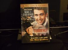 3 FULL LENGTH MOVIES-MADE FOR EACH OTHER/SUDDENLY/MY MAN GODFREY/MINT