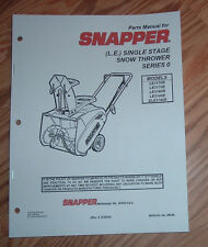 snapper snapper snow blower in manuals guides ebay rh ebay ca Snapper 8241 Snowblower Parts List Snapper 8241 Snowblower Parts List