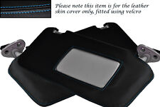 BLUE STITCHING FITS SUBARU LEGACY 2003-2009 2X SUN VISORS LEATHER COVERS ONLY