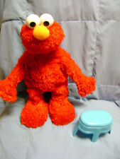 Sesame Street Newest   Elmo LIVE Doll with Stool
