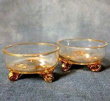 Lovely pair of gilded glass salts