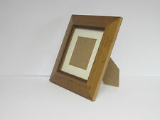 Antique Pine Wooden 5x5 Square Picture Photo Frame Mount 3x3 Standing