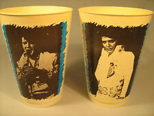 (LOT OF 2) Vintage ELVIS Cups #6 & #11 Plastic 1979 KOOLEE Refreshment [Y34]