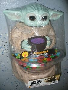 """Star Wars Mandalorian The Child Halloween Candy Bowl and Holder - 13"""" Rubies"""