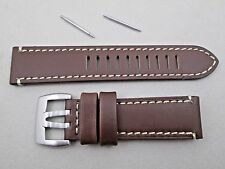 Genuine Luminox 23mm Field Automatic 1800 1801 brown leather watch band strap