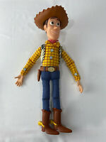 """Disney Pixar Toy Story Sheriff Woody Pull String Doll with Hat ~ 15"""" ~ 5 Phrases"""
