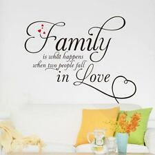 NEW Family Letter Quote Removable Vinyl Decal Art Mural Home Decor Wall Stickers