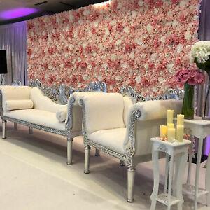 Artificial Flower Hydrangea Bouquet Wall Panel Wedding Home Backdrop Decor#H5O