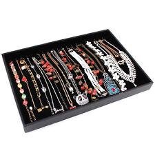 Velvet Necklaces Pendants Chain Jewelry Display Tray Holder Case Storage Box New