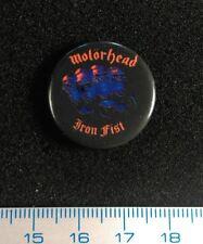 Pin Badge Button original Rock MOTORHEAD. Music. IRON FIST. metal RARE+++