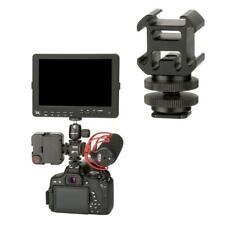 Camera 3 Hot Shoe Mount Adapter Mic LED Video Light Mini For DSLR Camera New
