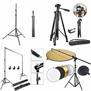 Studio Background Support Stand Camera Tripod Reflector Holder Stand Boom Arm