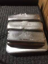 6 Hand Poured Aluminum Ingots / Bars - Total 4+ Lbs