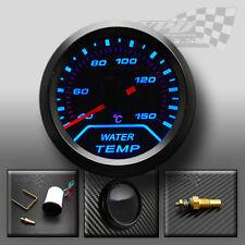 Universal Led Azul Agua Temperatura Calibre Ahumado diales cara 52mm