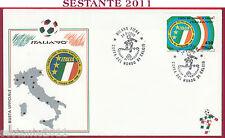 ITALIA FDC COPPA DEL MONDO ITALIA '90 MONDIALI 1990 MILANO FIERA T183