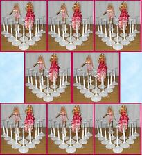 100 White Kaiser BARBIE Doll Stands for Monster High Fashion Royalty