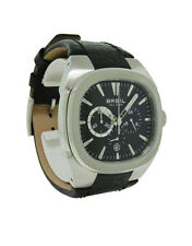 Breil Milano BW0331 Men's Black Oblong Chronograph Date Leather Watch
