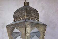 Deckenlampe Lampe Windlicht Metall Messing Marokko marokanisch Glas