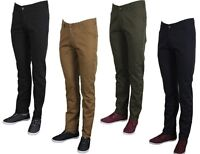 Twisted Faith Mens Chino Trousers Regular Fit Smart Casual Work Pants 28-40 Size