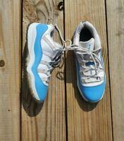 Nike Air Jordan 11 Retro XI Carolina UNC Blue White Leather 505835-106 Size 3Y
