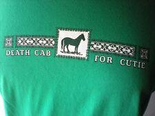 DEATH CAB FOR CUTIE t-shirt 2000 VINTAGE GREEN MEDIUM M