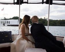 Donald Trump and Melania Trump UNSIGNED photo - K9281 - USS ARIZONA MEMORIAL