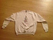 Vintage Lee Cotton Blend Merry Chirstmas Ugly Christmas Sweater Crewneck Size M