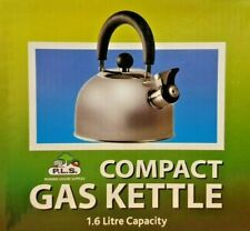 1.6L Whistling Gas Kettle with Folding Handle  - Matt Chrome Finish - SU300